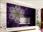 玻璃艺术背景墙