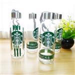 印花运动玻璃水瓶300ml
