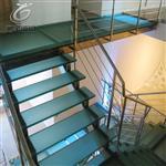楼梯专用防滑玻璃