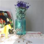 插花玻璃瓶竖纹欧式花瓶