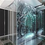 办公室文化墙内雕玻璃
