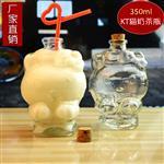 广州玻璃瓶饮料瓶kt猫瓶