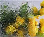 沙河海棠花压花玻璃