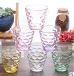 徐州|巴洛克炫彩水晶玻璃杯活动促销赠品雨点杯六件套啤酒杯可印字批发