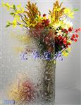 秋海棠压花玻璃
