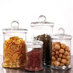 上海玻璃密封罐储物罐防潮收纳瓶可放茶叶零食干果奶粉透明罐子调