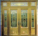厂家供应18毫米厚铜条镶嵌玻璃
