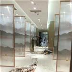 夹山水画玻璃 山水画绢丝玻璃广州