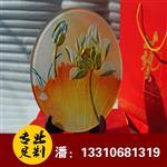 礼品摆件圆盘雕刻工艺玻璃圆盘摆件圆盘工艺品