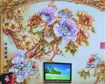 北京 北京背景墙雕刻彩绘艺术玻璃 12mm厚