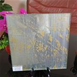 工程款夹丝玻璃 装饰夹绢丝玻璃 加工定制
