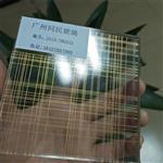 广州夹丝玻璃 夹金线条丝玻璃 隔断装饰夹丝玻璃