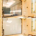 卫浴间调光玻璃价格酒店隔断雾化玻璃通电