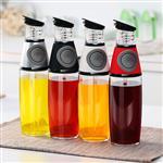 按压式玻璃油瓶计量油瓶厨房油瓶
