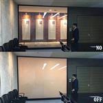 会议室通电玻璃 雾化玻璃可做投影幕布