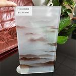 同民夹山水画玻璃 屏风山水画玻璃 园林山水画玻璃