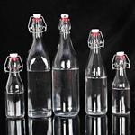 厂家直销密封无铅玻璃瓶牛奶瓶饮料瓶果汁瓶白酒红酒分装瓶酵素瓶
