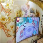 枣庄 艺术玻璃满堂金玉电视背景墙