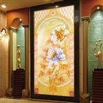 厂家直销艺术玻璃大富贵进门走廊玄关背景墙