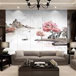 新中式万紫千红AG防眩玻璃背景墙