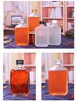 热销100ml小白酒瓶玻璃瓶透明磨砂江小白同款空瓶子可定制印