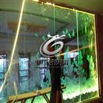 酒店幕墙激光内雕发光玻璃 3D艺术发光玻璃