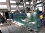 厂家直销15mm/19mm超大超宽平弯钢化玻璃价格及生产厂家