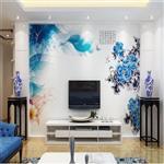 玻璃背景墙uv打印 厂家专业加工高清优质彩色玻璃UV打印玻璃