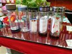 西安|西安水晶杯泡茶花茶双层玻璃杯印字采购