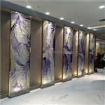 珐琅彩玻璃 艺术屏风玻璃 热熔工艺钢化玻璃 同民