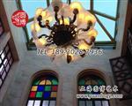 教堂别墅彩色玻璃窗彩绘穹顶定制厂家直销
