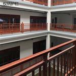 天津高档住宅小区别墅仿木纹铝艺护栏 楼梯定制