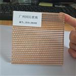 广州夹金属玻璃 夹金属铜丝玻璃 钢化夹丝玻璃