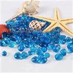 淄博|水族鱼缸造景底砂玻璃珠蓝色玻璃砂
