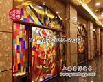 彩色教堂玻璃窗彩绘玻璃穹顶圆博工艺厂家直销