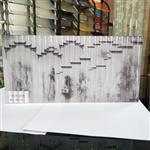 同民夹山水画玻璃 夹画玻璃 售楼部夹画玻璃 5+5厘钢化