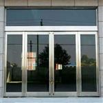 衡水|北京商场门口不锈钢玻璃门 地弹簧玻璃门 12mm厚