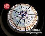 上海|欧式精美教堂彩绘玻璃|彩色玻璃穹顶供应厂商
