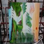 彩印彩绘艺术玻璃  UV高清打印玻璃