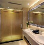 淋浴房浴室隔断黑烤型材钢化玻璃推拉门简易沐浴房卫生间淋浴门