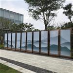 广州园林山水画玻璃 夹山水画玻璃厂家 同民玻璃
