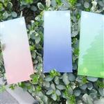彩色蒙砂渐变玻璃价格
