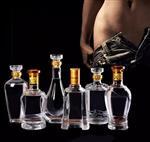 特价白酒瓶精致烤花空酒瓶高档一斤装喜宴玻璃瓶子透明创意500ml
