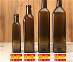 茶色方橄榄油瓶 茶色方形橄榄油玻璃瓶