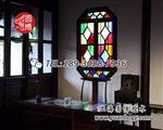 上海|彩色玻璃花窗彩绘玻璃窗--圆博工艺