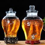 泡酒玻璃坛带龙头10斤20斤家用酿酒泡酒罐带盖人参专用酒瓶坛子