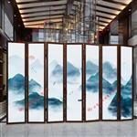 广州富景玻璃供应夹山水画玻璃艺术玻璃