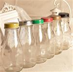 250ml奶吧专用200ml酸奶瓶500ml鲜奶茶瓶牛奶瓶咖啡杯玻璃瓶带盖