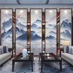 广州富景玻璃夹山水画玻璃定制厂家