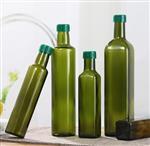 绿色玻璃瓶 绿色橄榄油玻璃瓶 四方玻璃瓶